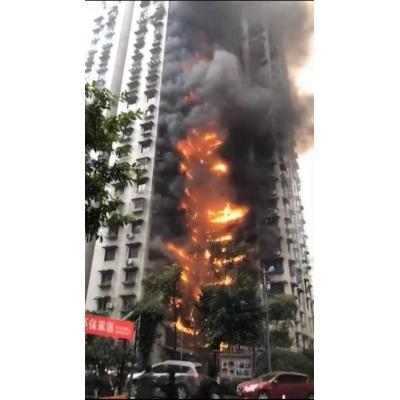 重庆居民楼起火引燃外墙保温层 燃烧阻燃检测不容小视
